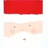 Torn Paper Santa Card