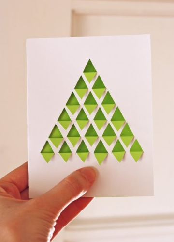 Geometric Tree Card