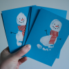 Snowman Footprint Card