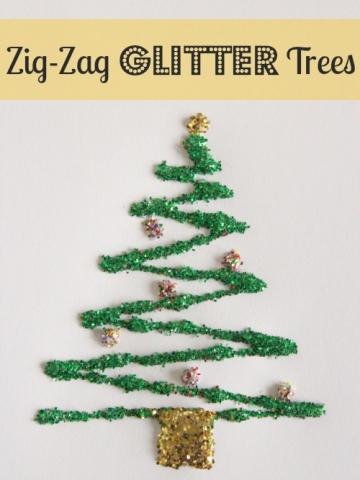 Zig Zag Glitter Tree