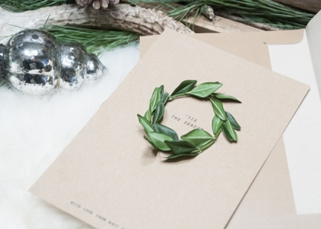Classic Wreath Card