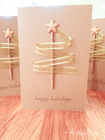 3D Ribbon Tree Card